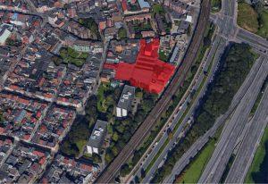 Arop-site Borgerhout luchtbeeld