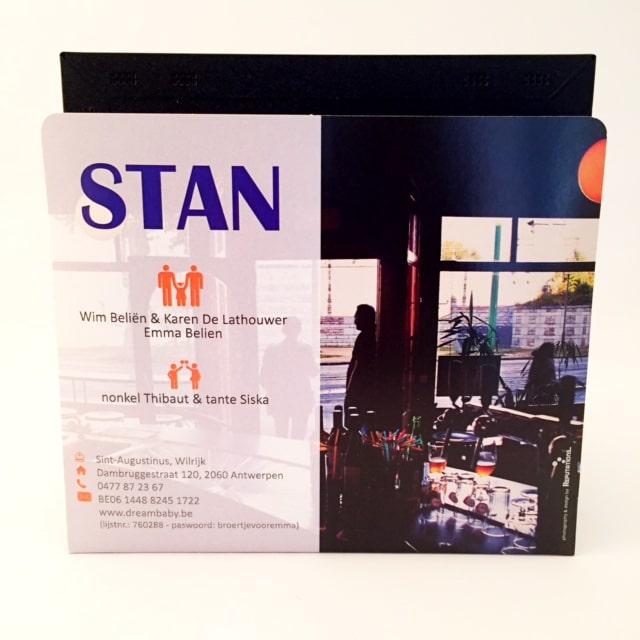 geboortekaartje Stan 3