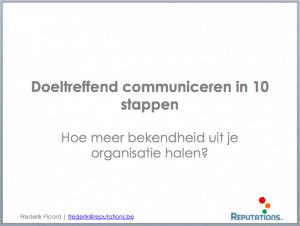 Doeltreffend communiceren in 10 stappen