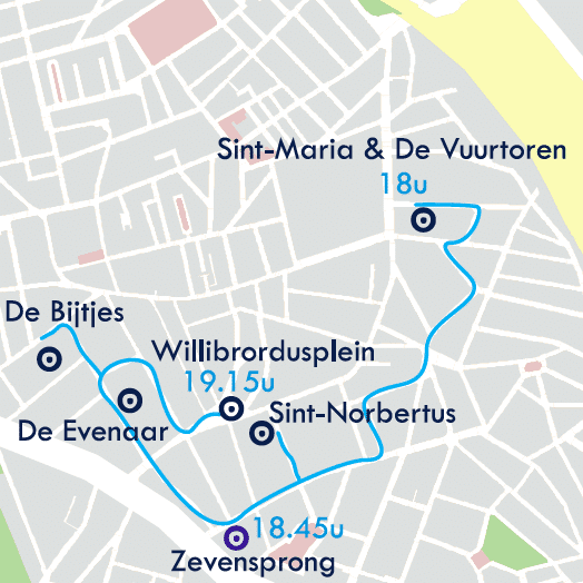 Willibrordus Warm Winters Wijkfeest parcours