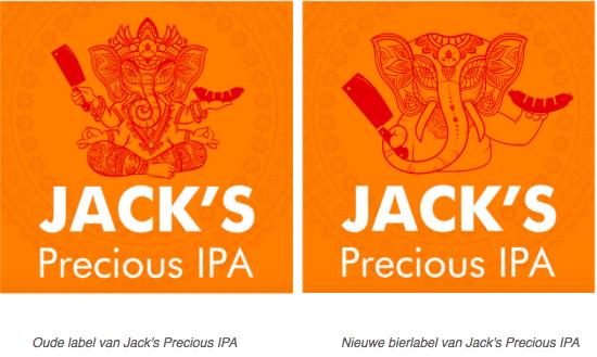 Jack's Precious IPA oud en nieuw label