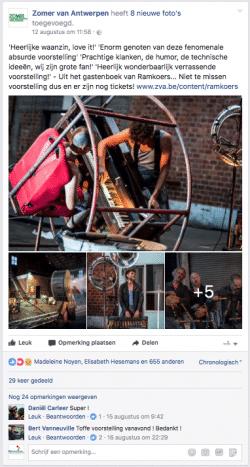 Social mediaplan Zomer van Antwerpen 2017