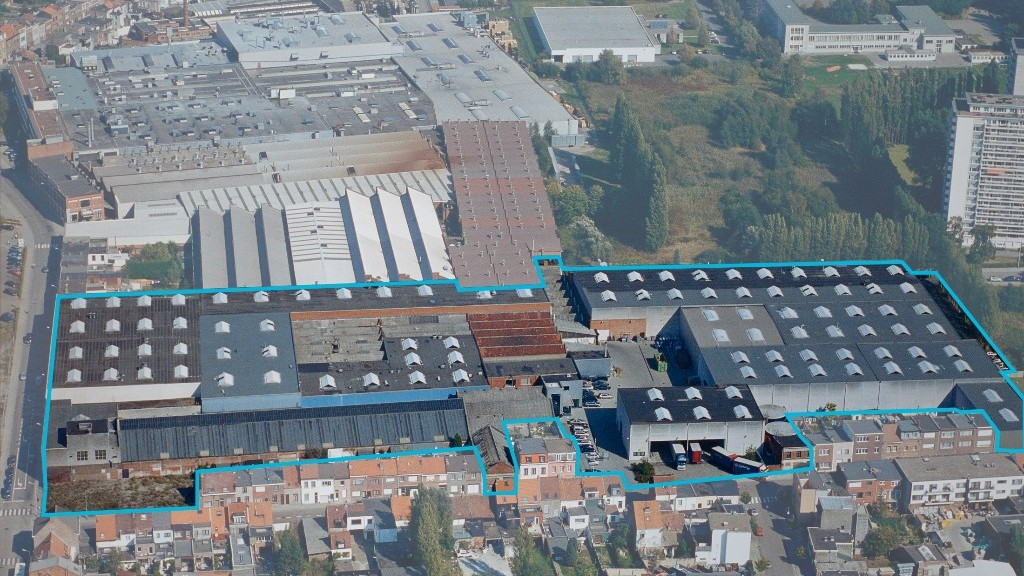 Blikfabriek crown-site luchtbeeld