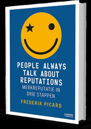 Boek cover People always talk about Reputations merkreputatie in drie stappen
