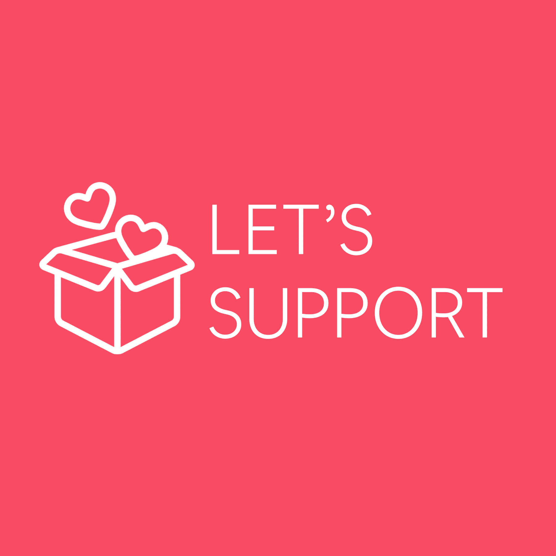 let's support logo square