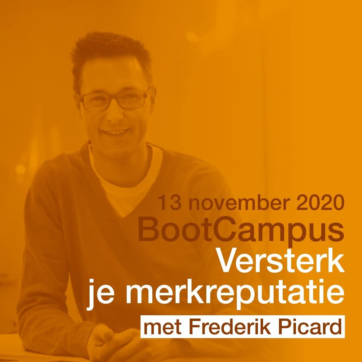 BootCampus LannooCampus Merkreputatie Frederik Picard